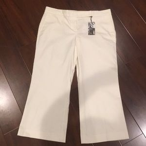 NWT Express white crop low rise trousers size 12